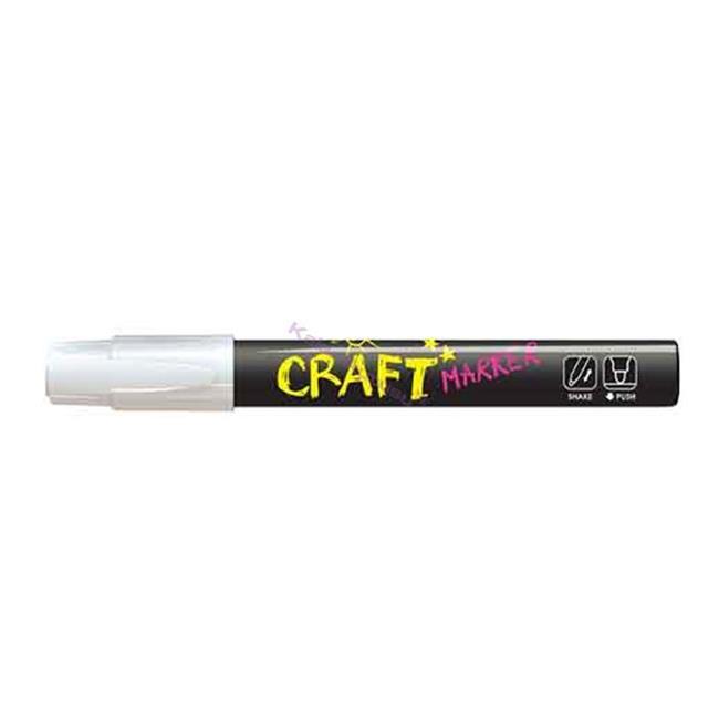 Amos Cam Boyama Kalemi 12'li Neon Beyaz Mc12d-wt %30 İndirimli Fiyatlarla
