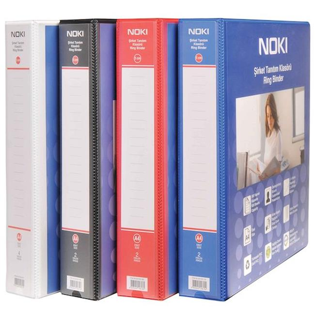 NOKİ TANITIM KLASÖRÜ 2 HALKA 5CM SİYAH 501525-190