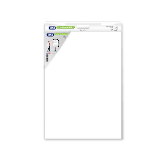 Mas MAS - FlipChart Askılı 64 x 90 Düz 25 Yaprak 80 gr