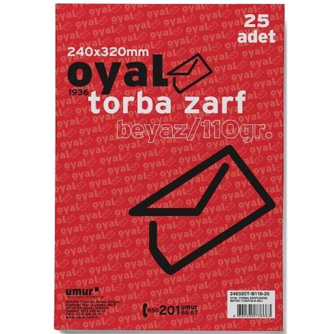 OYAL ZARF TORBA 24x32 110GR BEYAZ SLK 25 Lİ