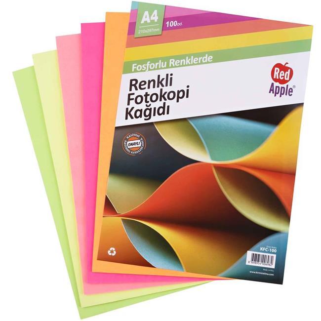 RED APPLE FOTOKOPİ KAĞIDI FOSFORLU 100 LÜ KFC-100