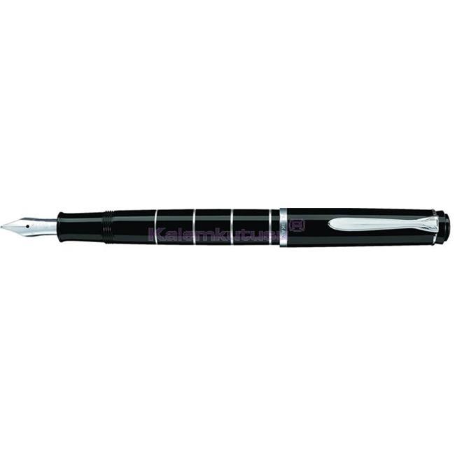 Pelikan M215 Classic Siyah-Gümüş Halkalı Dolma Kalem - 4 Farklı Uç Seçeneği <br><img src='resim/isyaz.gif' border='0'/>