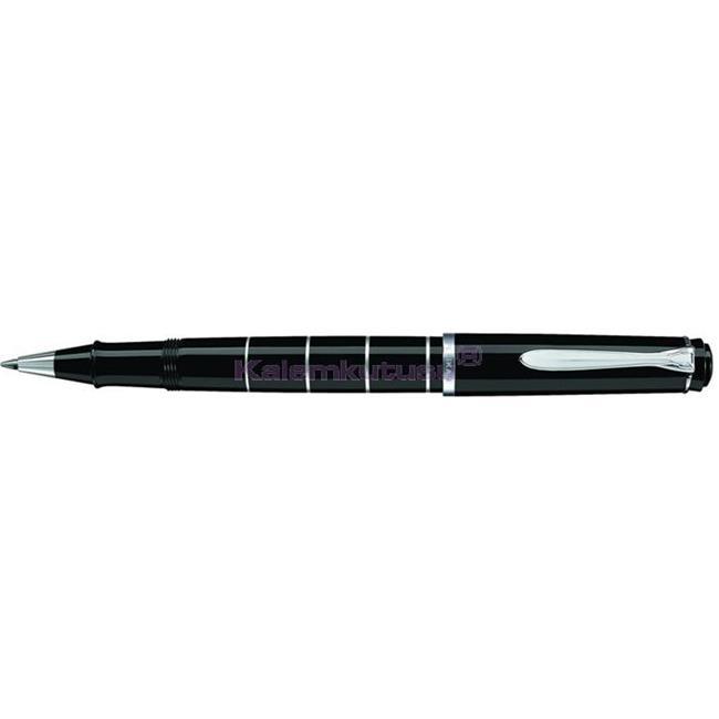 Pelikan R215 Classic Siyah-Gümüş Halkalı Roller Kalem  %30 İndirimli Fiyatlarla