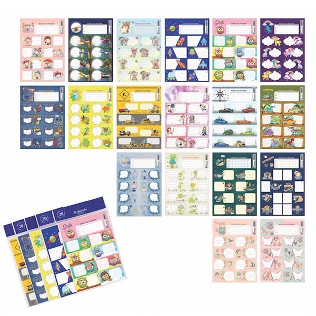Keskin Color KESKİN ETİKET DERS PROG. 20 Lİ KARIŞIK 220120-99