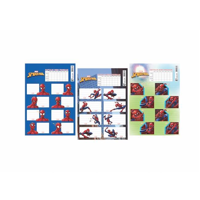 Keskin Color KESKİN ETİKET DERS PROG. 20 Lİ SPIDERMAN 220120-06