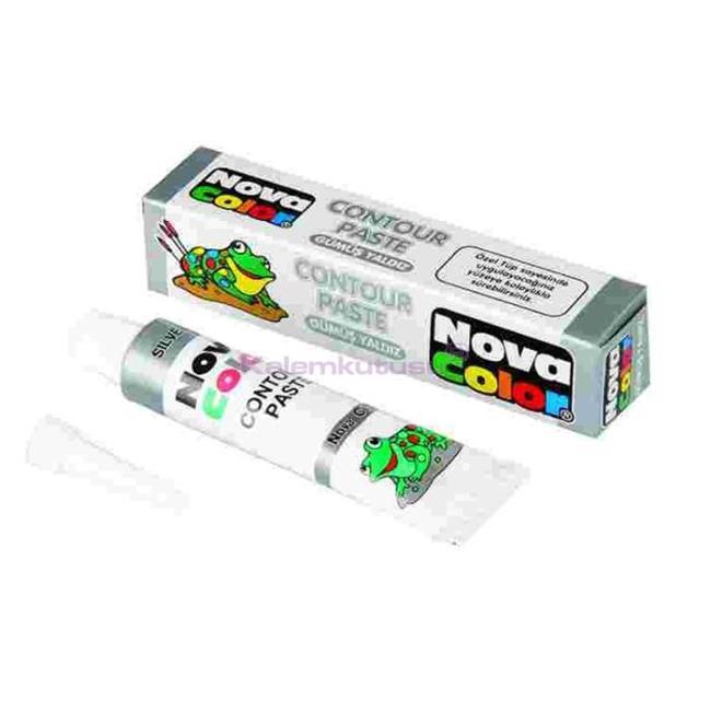 Nova Color Contour(kontur)paste Gümüş Yaldi Nc-185