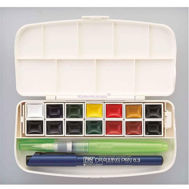 Zig Suluboya Pigment Transparent Wskg301-1 14 Renk