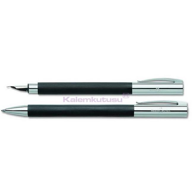 Faber-Castell Ambition Mat Siyah Dolmakalem + Tükenmezkalem - matte black  %30 İndirimli Fiyatlarla