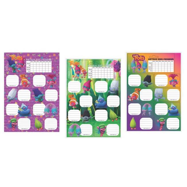 Keskin Color KESKİN ETİKET DERS PROG. 20 Lİ TROLLS 220120-82
