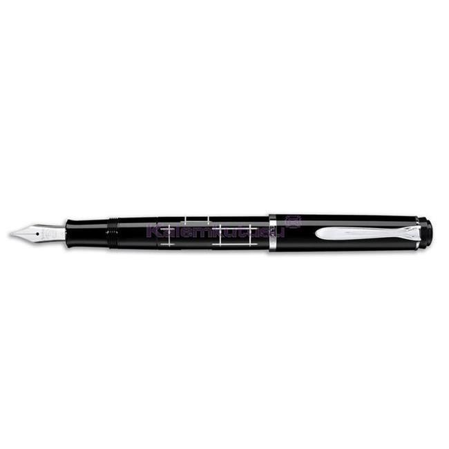 Pelikan M215 Classic Siyah-Gümüş Orthogon Dolma Kalem - 4 Farklı Uç Seçeneği  %30 İndirimli Fiyatlarla
