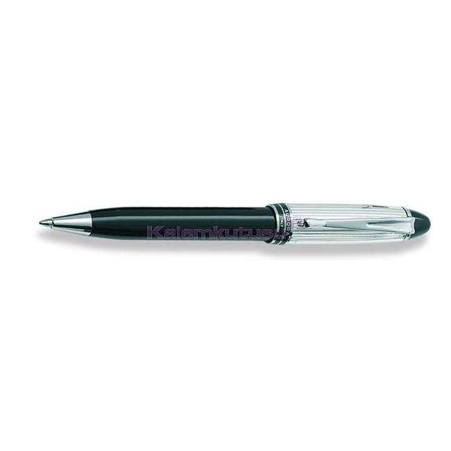 AURORA IPSILON Silver 925 Som Gümüş/Siyah Reçine Tükenmez kalem  %30 İndirimli Fiyatlarla