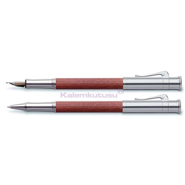Graf von Faber-Castell Classic Bakkam Ağacı/Platin Dolma Kalem + Roller Kalem Set  %30 İndirimli Fiyatlarla