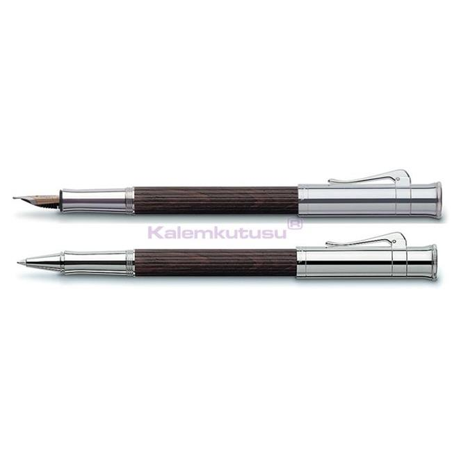 Graf von Faber-Castell Classic Grenadilla Ağacı/Platin Dolma Kalem + Roller Kalem Set  %30 İndirimli Fiyatlarla