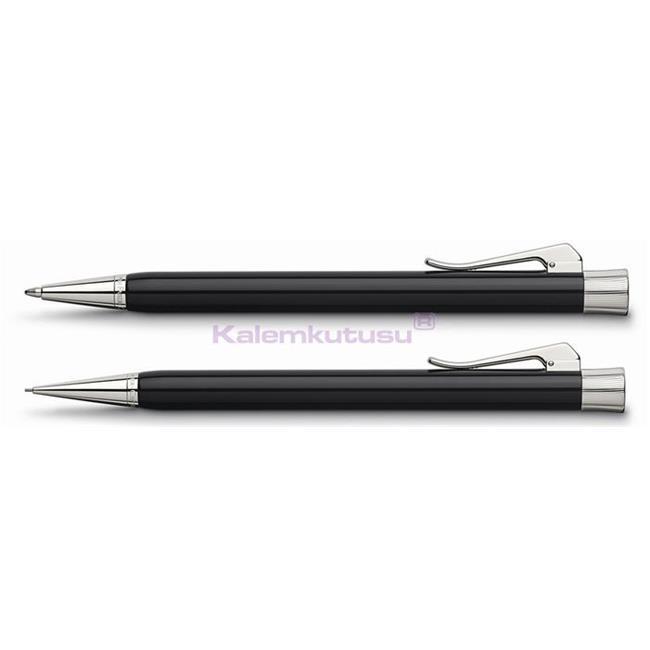 Graf von Faber-Castell Intuition Tek Parça Reçine/Platin Tükenmezkalem + Mekanik Kurşun kalem Set  %30 İndirimli Fiyatlarla