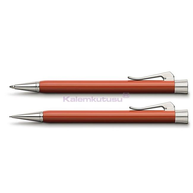 Graf von Faber-Castell Intuition Terra Tek Parça Reçine/Platin Tükenmezkalem + Mekanik Kurşun kalem Set  %30 İndirimli Fiyatlarla