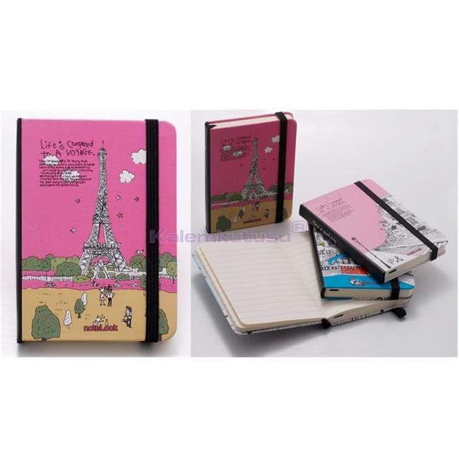 Scrikss noteLook Çizgili Mini Not Defteri A7 (7.4x10.5cm) - Paris Temalı