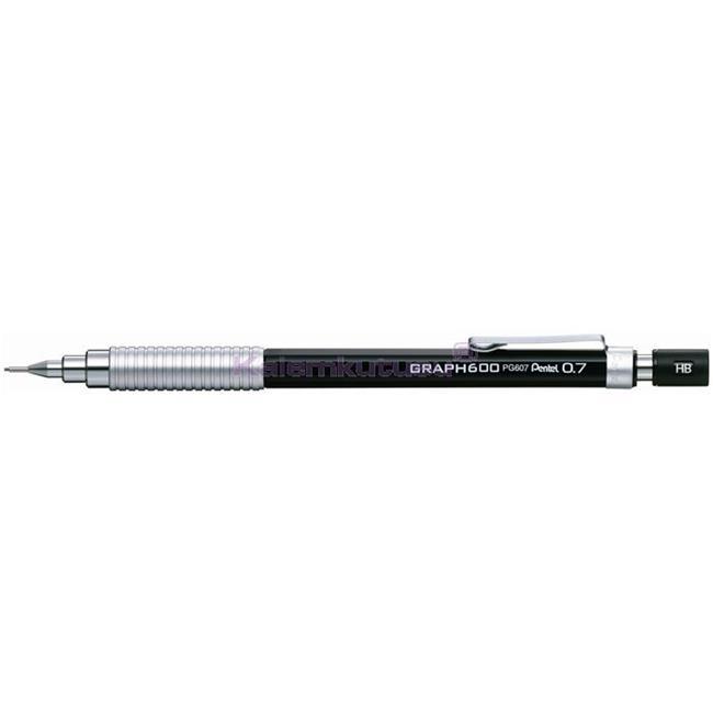 Pentel GRAPH600 MEKANİK KURŞUN KALEM - Siyah/0.7mm   %30 İndirimli Fiyatlarla