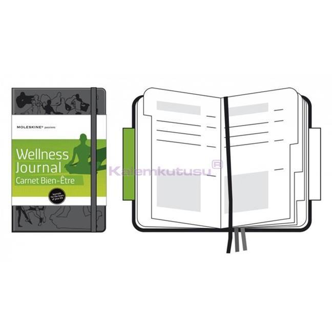 MOLESKINE Hard Cover Wellness Journal Notebook 13x21cm