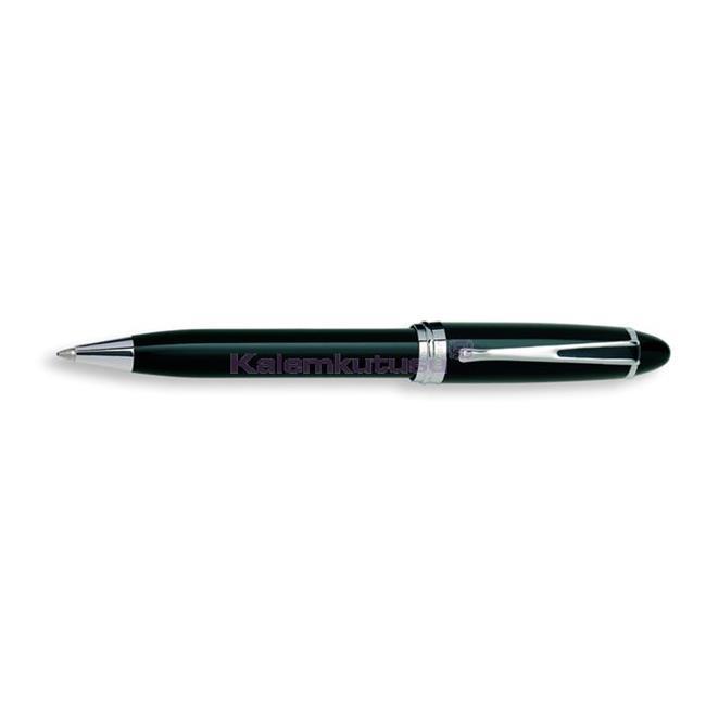 AURORA IPSILON De Luxe Doğal Reçine/Krom Tükenmez kalem - Siyah %30 İndirimli Fiyatlarla