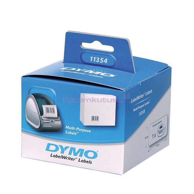 DYMO LabelWriter Serisi Çok Amaçlı Etiket 57x32mm Ruloda 1000 Adet Beyaz Kağıt