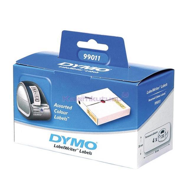 DYMO LabelWriter Serisi Karışık Renklerde Etiket 89x28mm 520 Adet Rulo Kağıt (Sarı,Mavi,Pembe,Yeşil)