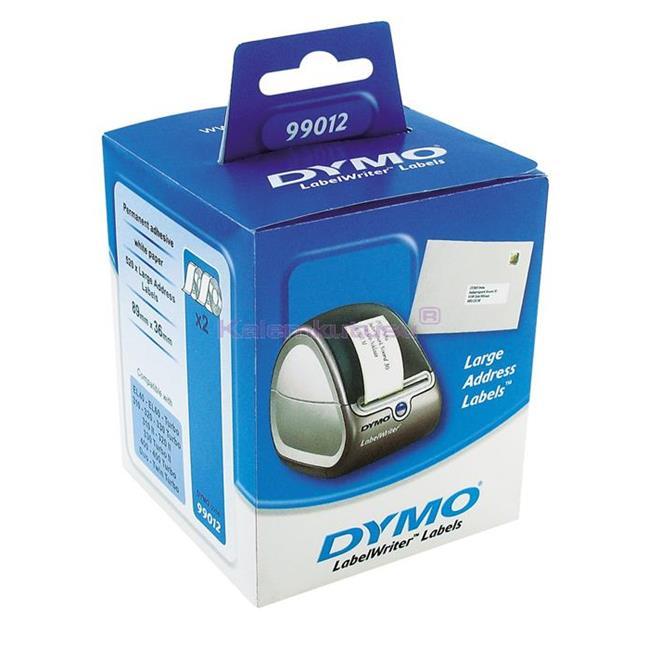 DYMO LabelWriter Serisi Geniş Adres Etiket 89x36mm Beyaz Kağıt 520 adet 0722400-99012