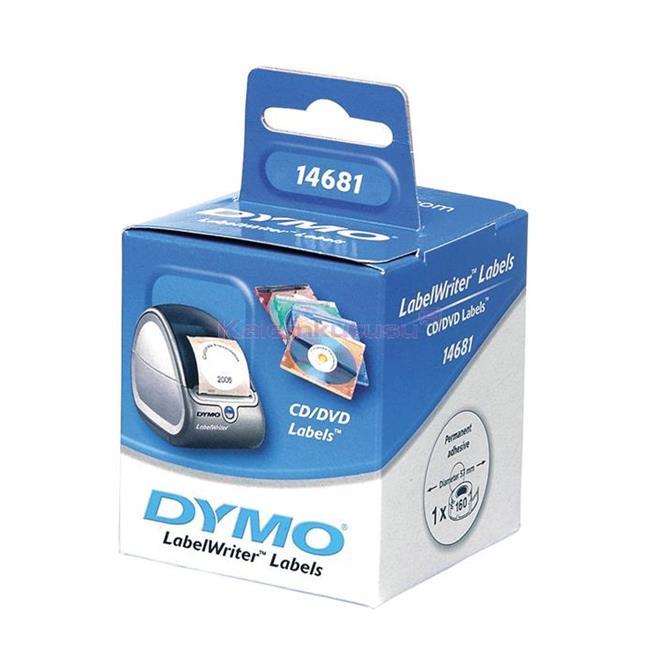 DYMO LabelWriter Serisi CD/DVD Etiket Çap:57mm 160 Adet Rulo Beyaz Kağıt