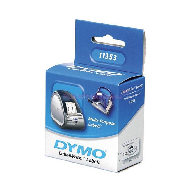 DYMO LabelWriter Serisi Çok Amaçlı Etiket (2 yüzlü) 25x13mm 1000 Adet Rulo Beyaz