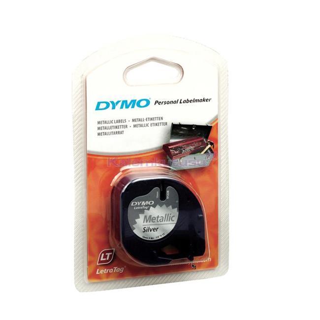 DYMO LetraTag serisi 12mm x 4mt Metalik Gri