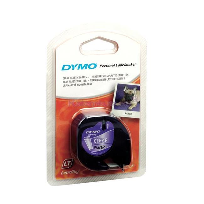 DYMO LetraTag Serisi Şerit 12 mm x 4mt Plastik Şeffaf