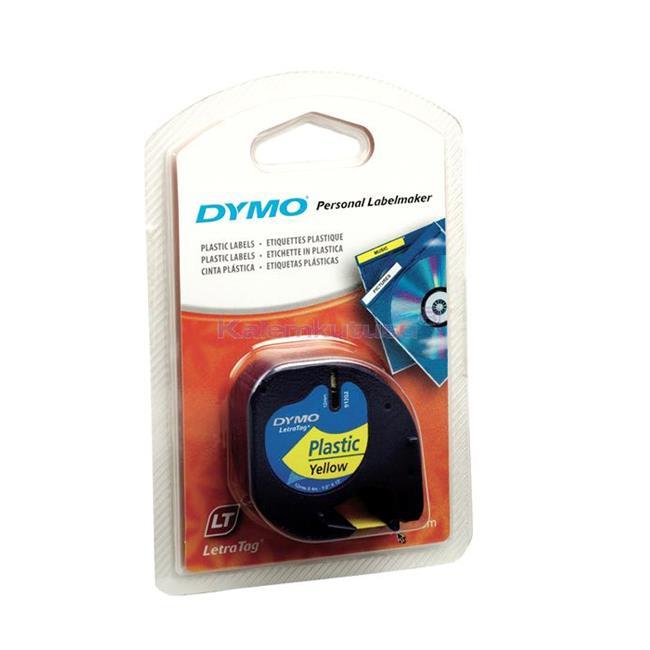 DYMO LetraTag serisi Plastik Şerit - 12mm x 4mt Plastik Sarı %30 İndirimli Fiyatlarla
