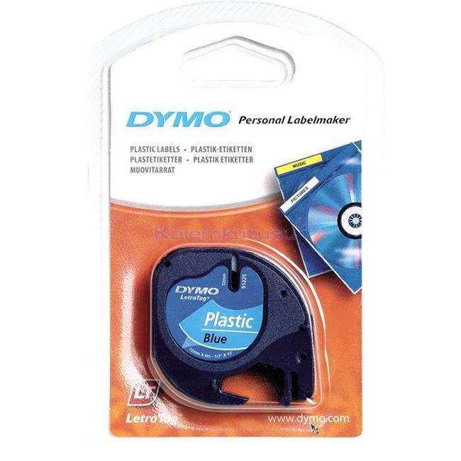 DYMO LetraTag serisi Plastik Şerit - 12mm x 4mt. Plastik Mavi