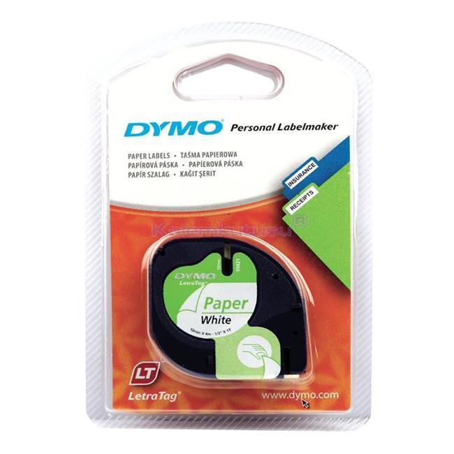 DYMO LetraTag serisi Kağıt Şerit - 12mm x 4mt Kağıt Beyaz