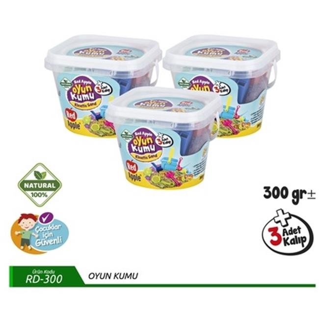 RED APPLE OYUN KUMU RD-300 300GR+3 KALIP 4*24 KOVA