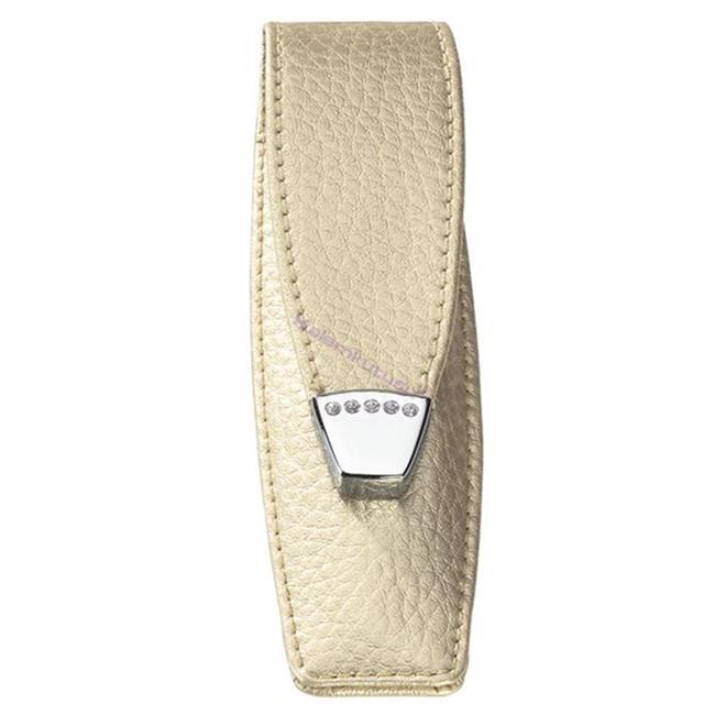 ONLINE Leather Crystallized® -Swarovski Tasarım Kısa Tekli Kalem Kılıfı (12x3.5cm) - Şampanya