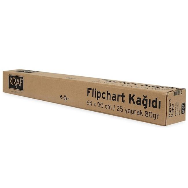 KRAF FLIPCHART KAĞIDI RULO   25YP 703G