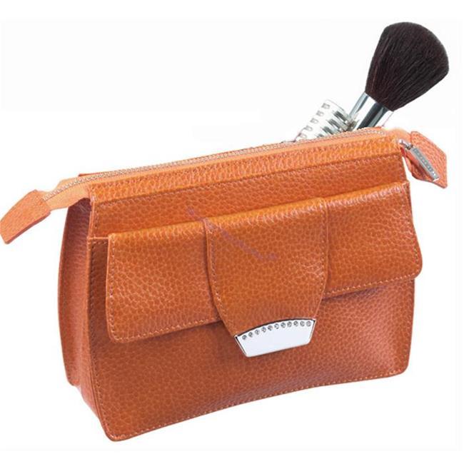 ONLINE Leather Crystallized® -Swarovski Tasarım Deri Kozmetik Çantası - Juicy Mango