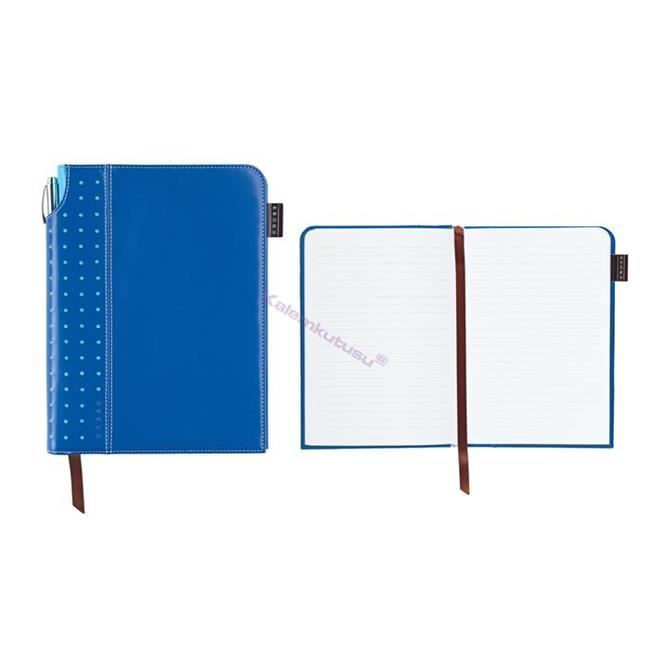 Cross Journals Suni Deri Kaplı Orta Boy (A5) Özel Defter (Kalem Hediye) - Mavi %30 İndirimli Fiyatlarla
