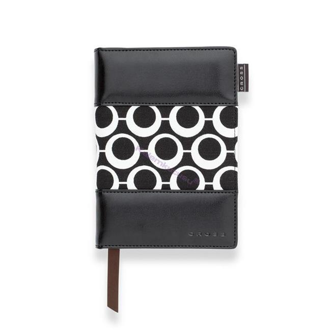 Cross Mod Journals Small(A6) Çizgili Defter Siyah-Beyaz Kumaş/Deri (Kalem Hediye)