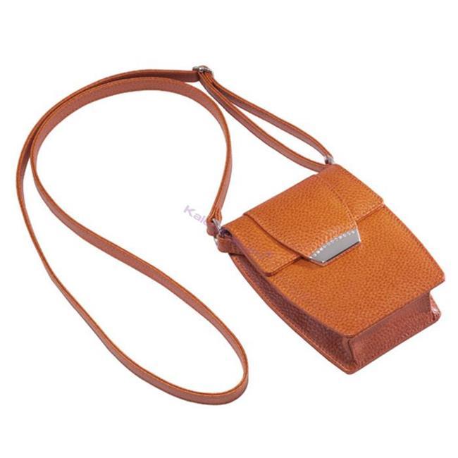 ONLINE Leather Crystallized® -Swarovski Tasarım Deri Askılı Küçük Çanta - Juicy Mango