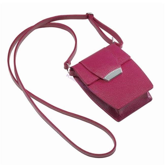 ONLINE Leather Crystallized® -Swarovski Tasarım Deri Askılı Küçük Çanta - Bright Fuchsia %30 İndirimli Fiyatlarla