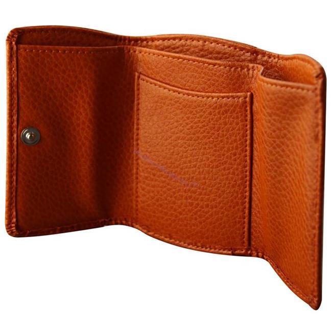 ONLINE Leather Crystallized® -Swarovski Tasarım Deri Küçük Cüzdan (10x7cm) - Juicy Mango