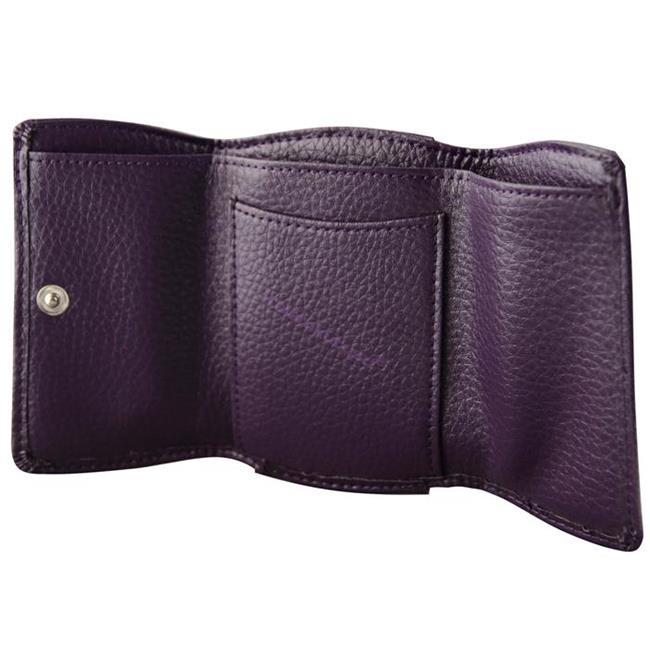 ONLINE Leather Crystallized® -Swarovski Tasarım Deri Küçük Cüzdan (10x7cm) - Fantastic Plum