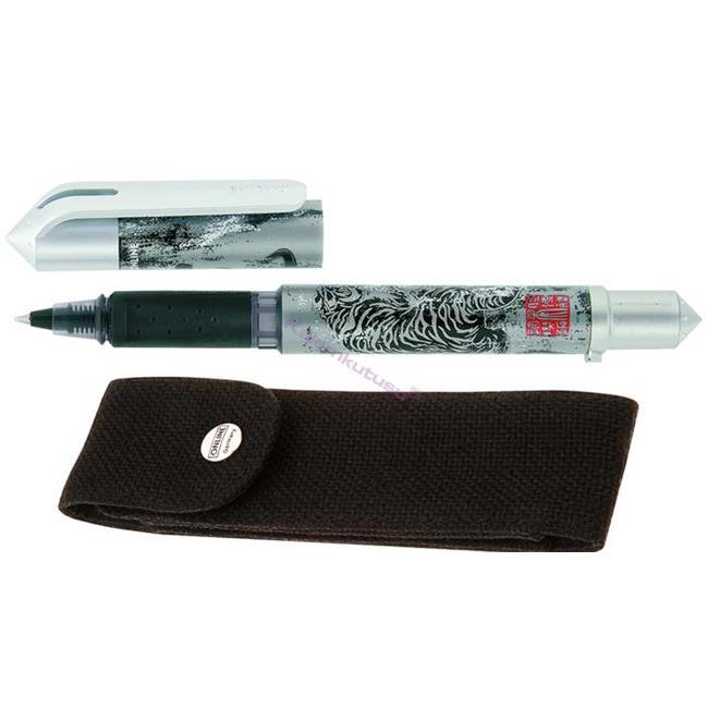 ONLINE Campus Asia Tiger Kartuşlu Sistem 0.5mm Roller kalem + Kılıf + Anahtarlık %30 İndirimli Fiyatlarla
