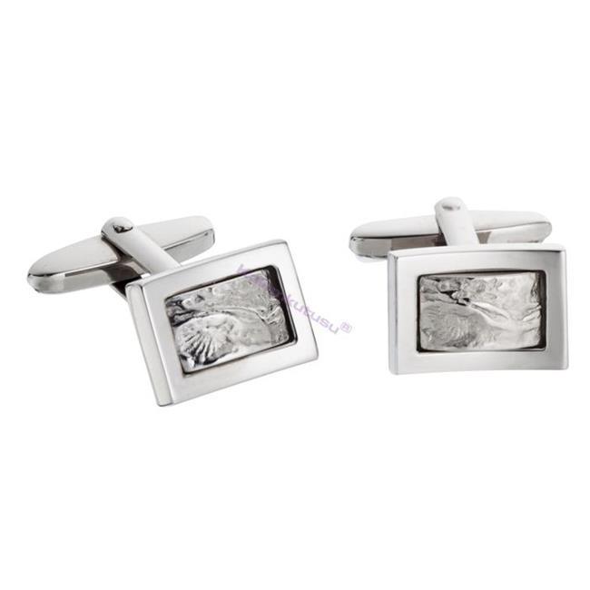 Waldmann Germany Sueno 925 Dövme Som Gümüş Kol Düğmesi %30 İndirimli Fiyatlarla
