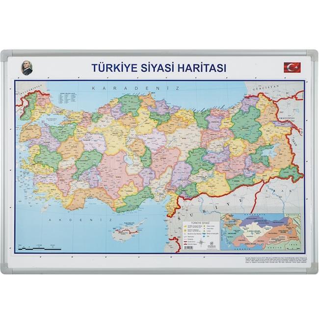 İNTER HARİTA TÜRKİYE SİYASİ D.M. 70X100 814