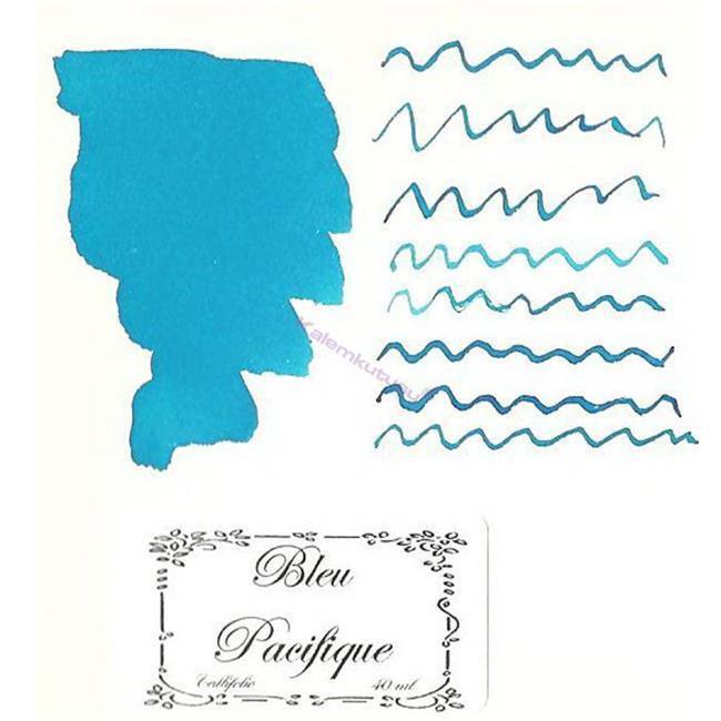 L'Artisan Pastellier Callifolio Dolmakalem Mürekkebi / 40 ml Cam şişe - Pasifik Mavisi