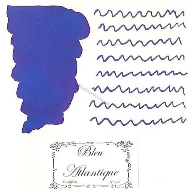 L'Artisan Pastellier Callifolio Dolmakalem Mürekkebi / 40 ml Cam şişe - Atlantik Mavisi