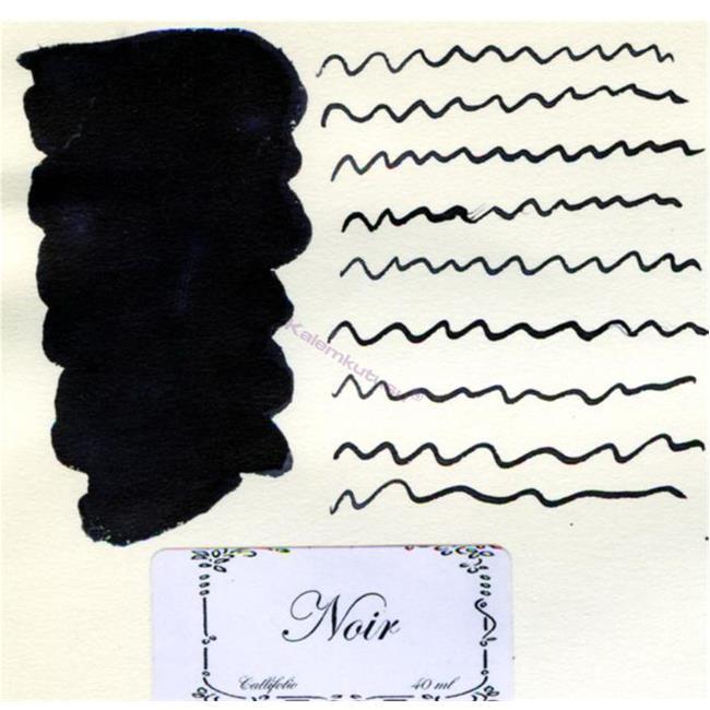L'Artisan Pastellier Callifolio Dolmakalem Mürekkebi / 40 ml Cam şişe - Kömür Siyah