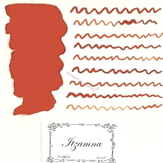 L'Artisan Pastellier Callifolio Dolmakalem Mürekkebi / 40ml Cam şişe - İtzamna Turuncusu